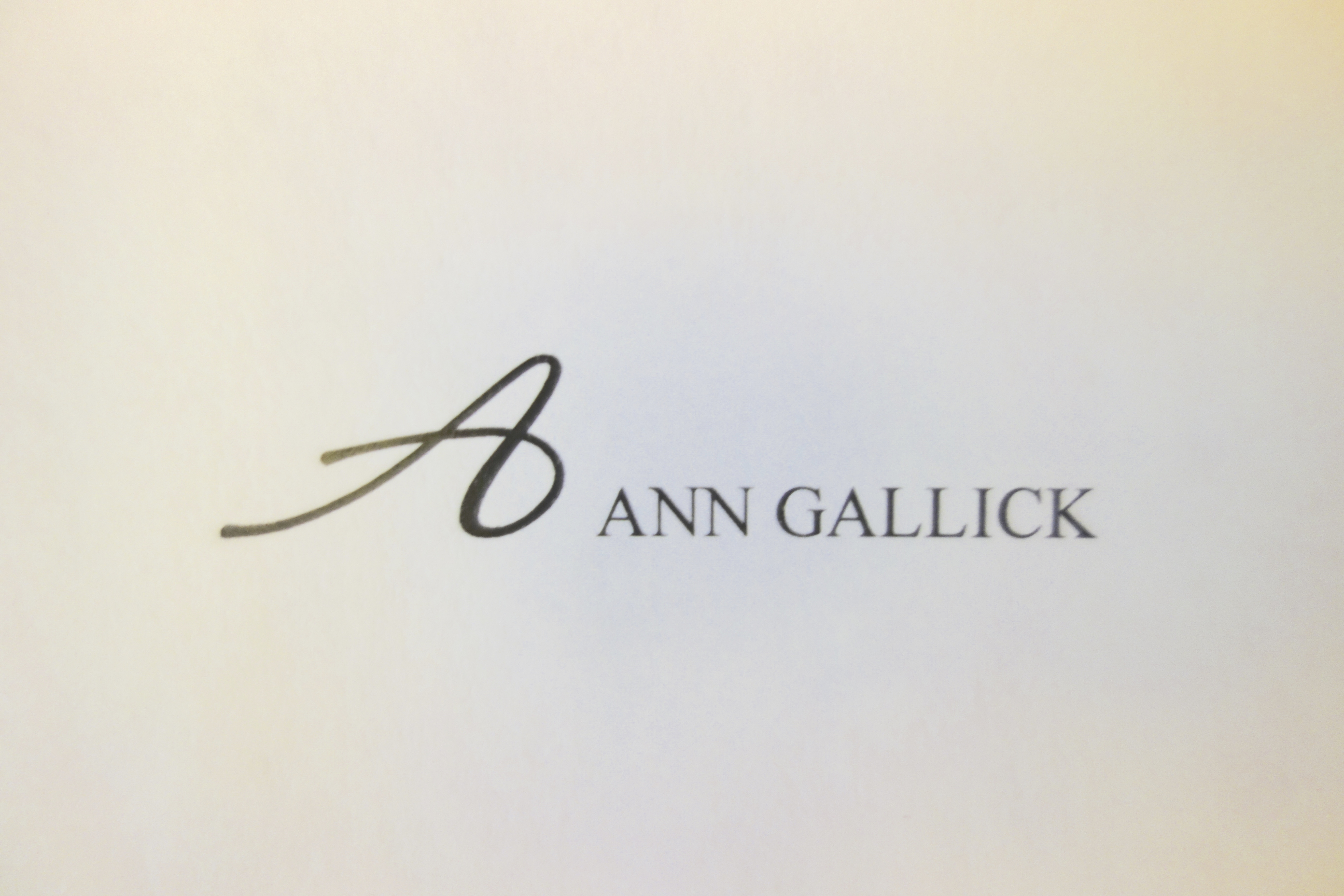 Ann Gallick's Signature