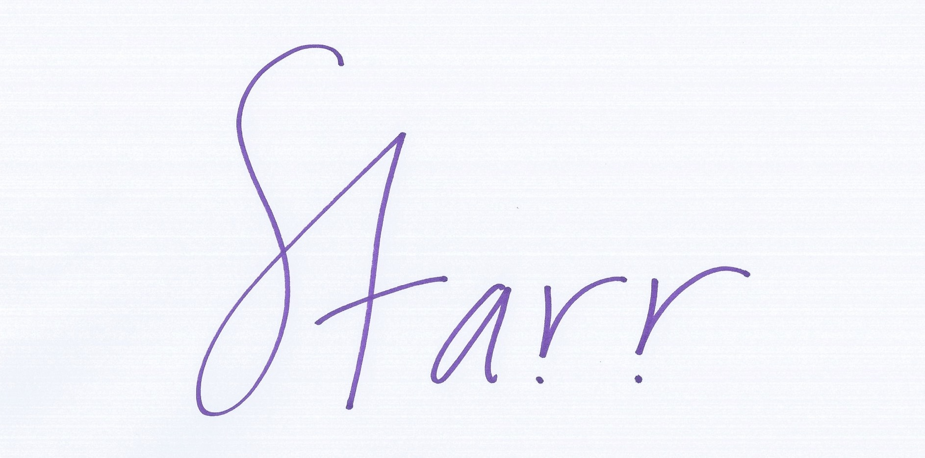Starr Lowe's Signature