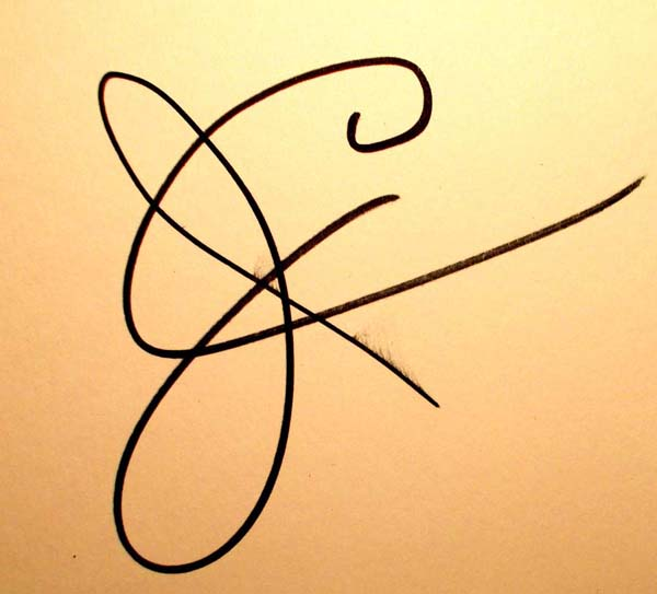 James Corcoran's Signature