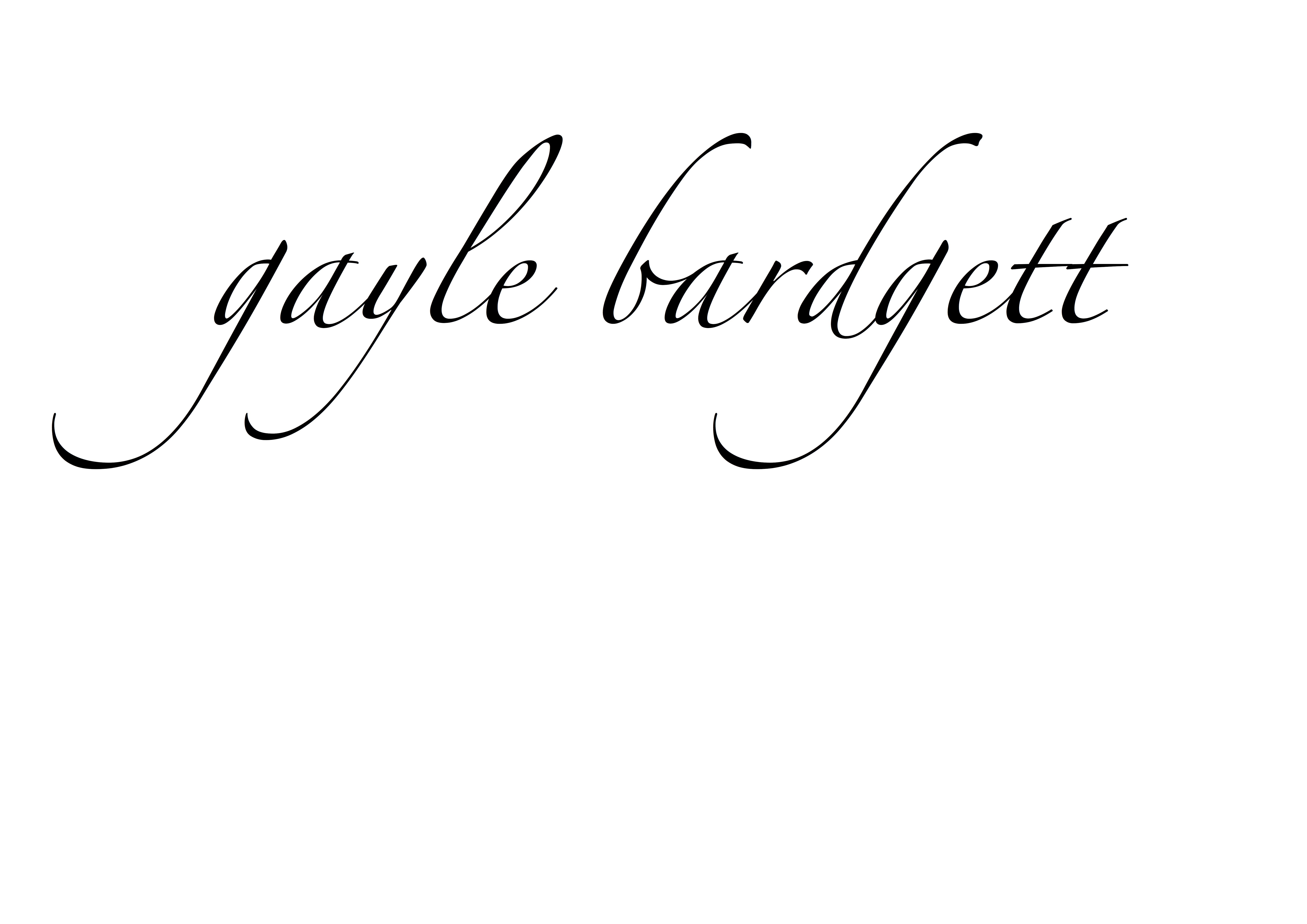 Gayle Bardgett's Signature