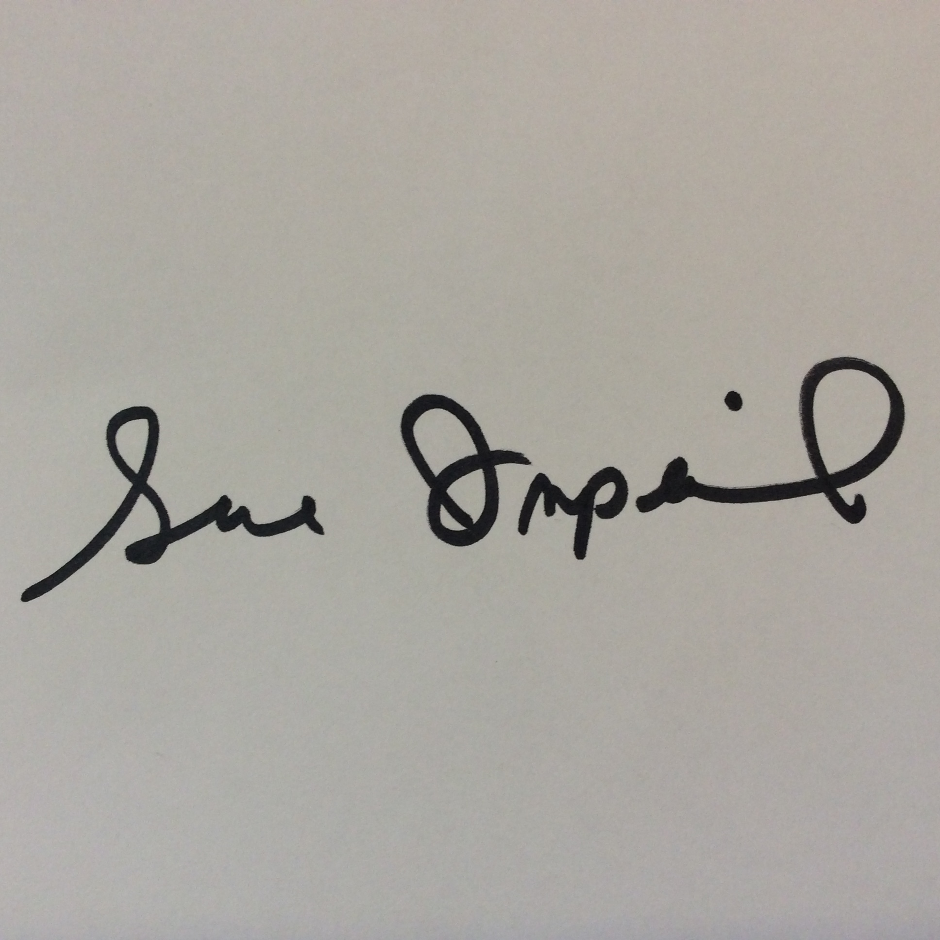 Sue Imperial's Signature
