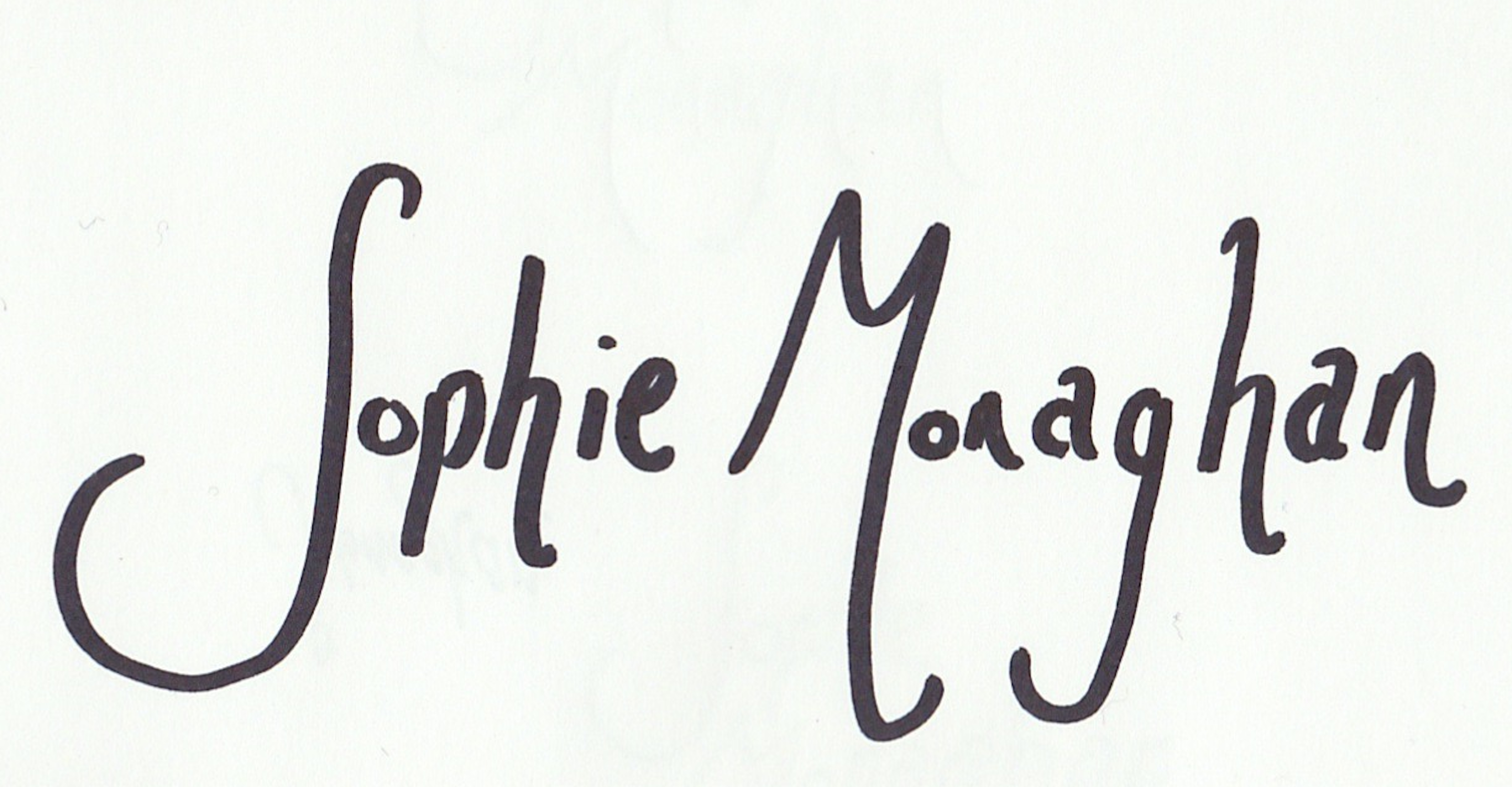 Sophie Monaghan's Signature