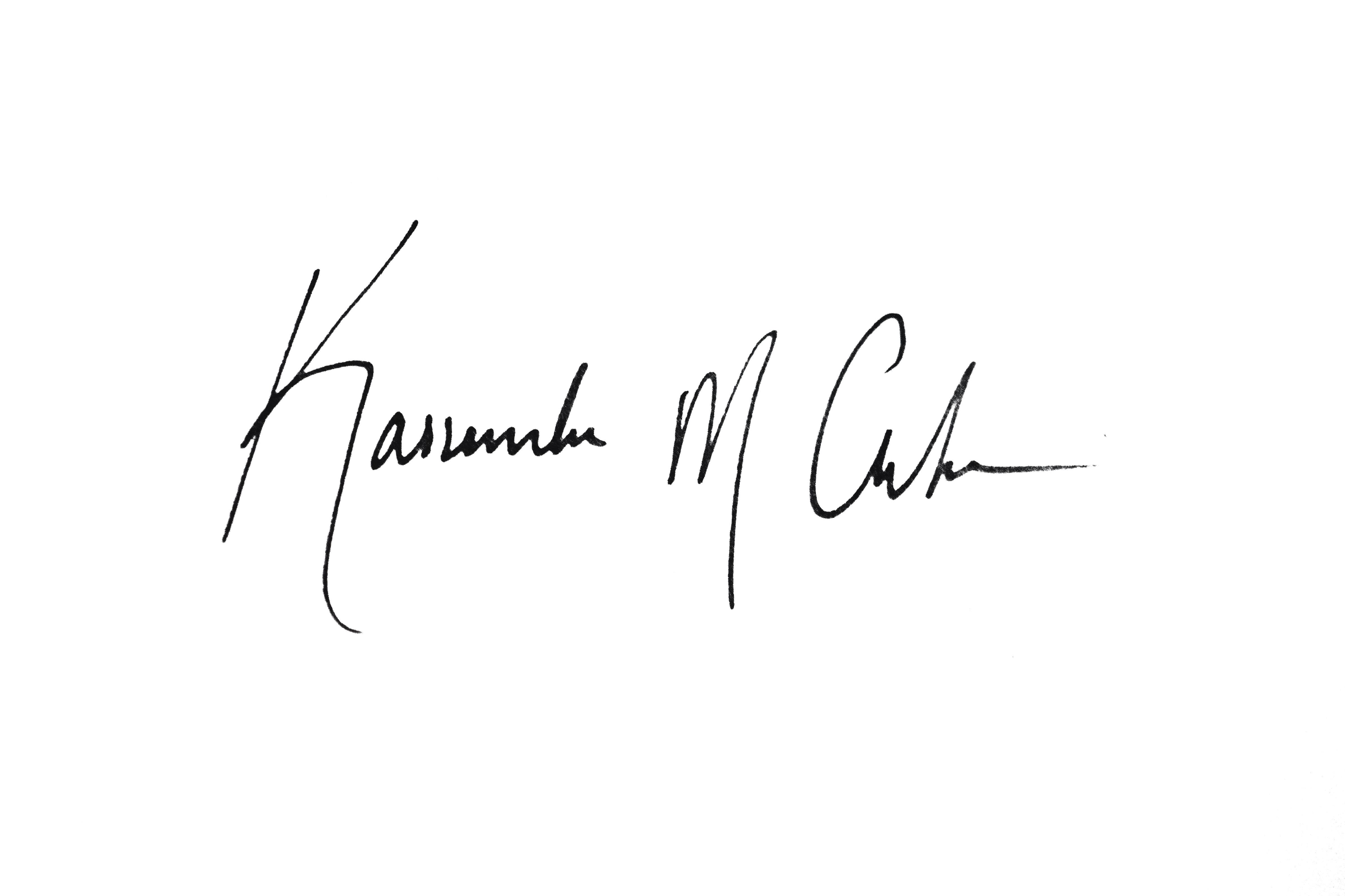 Kassandra Clarke's Signature