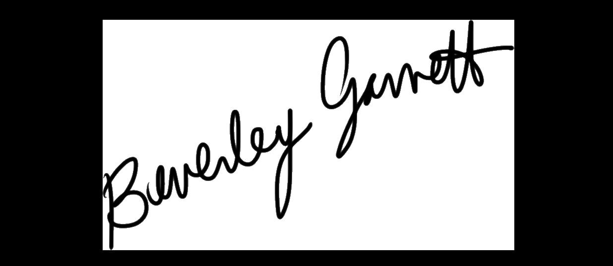 beverley garrett's Signature