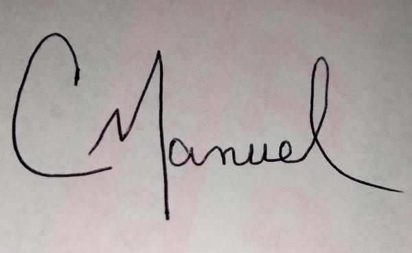 Christie Manuel's Signature