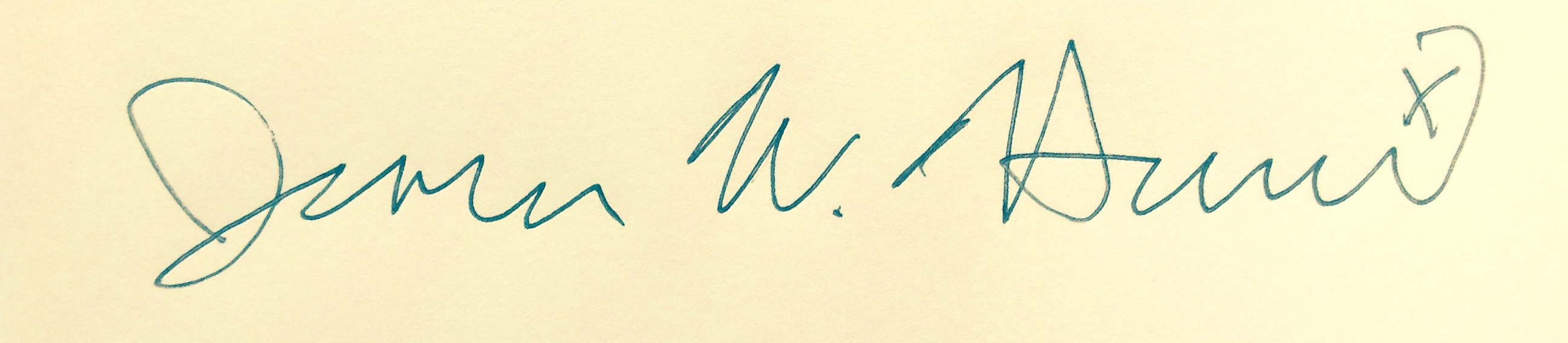 Jim Harris's Signature
