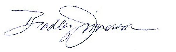 Bradley Jimerson's Signature