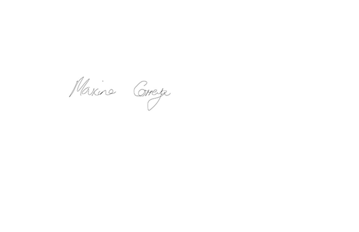 Maxine Correya's Signature
