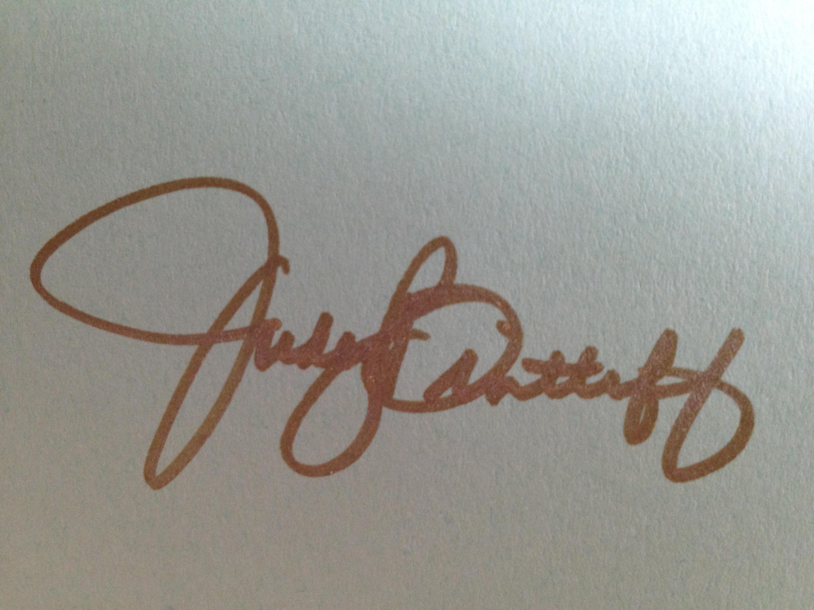 Judy Bintliff's Signature