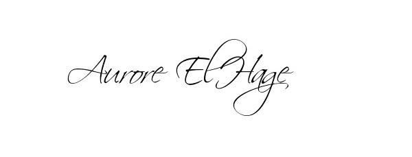 Aurore El-Hage's Signature