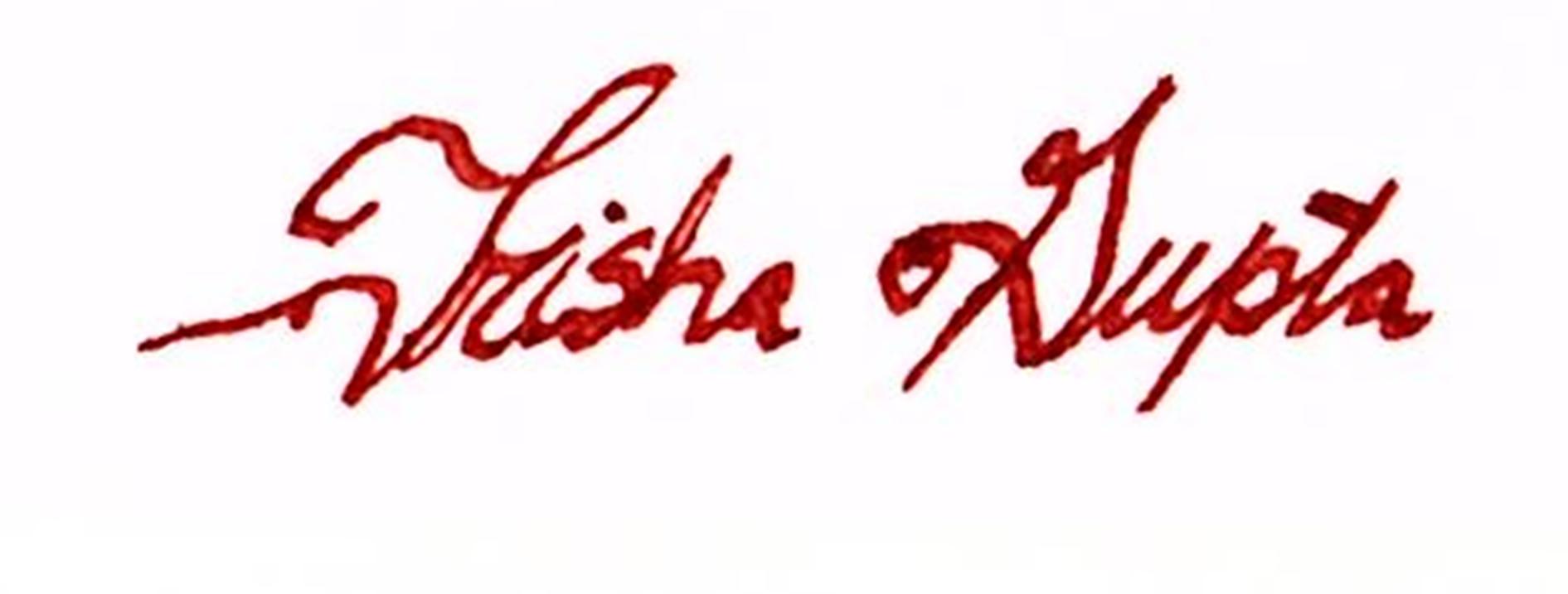 Trisha Gupta's Signature