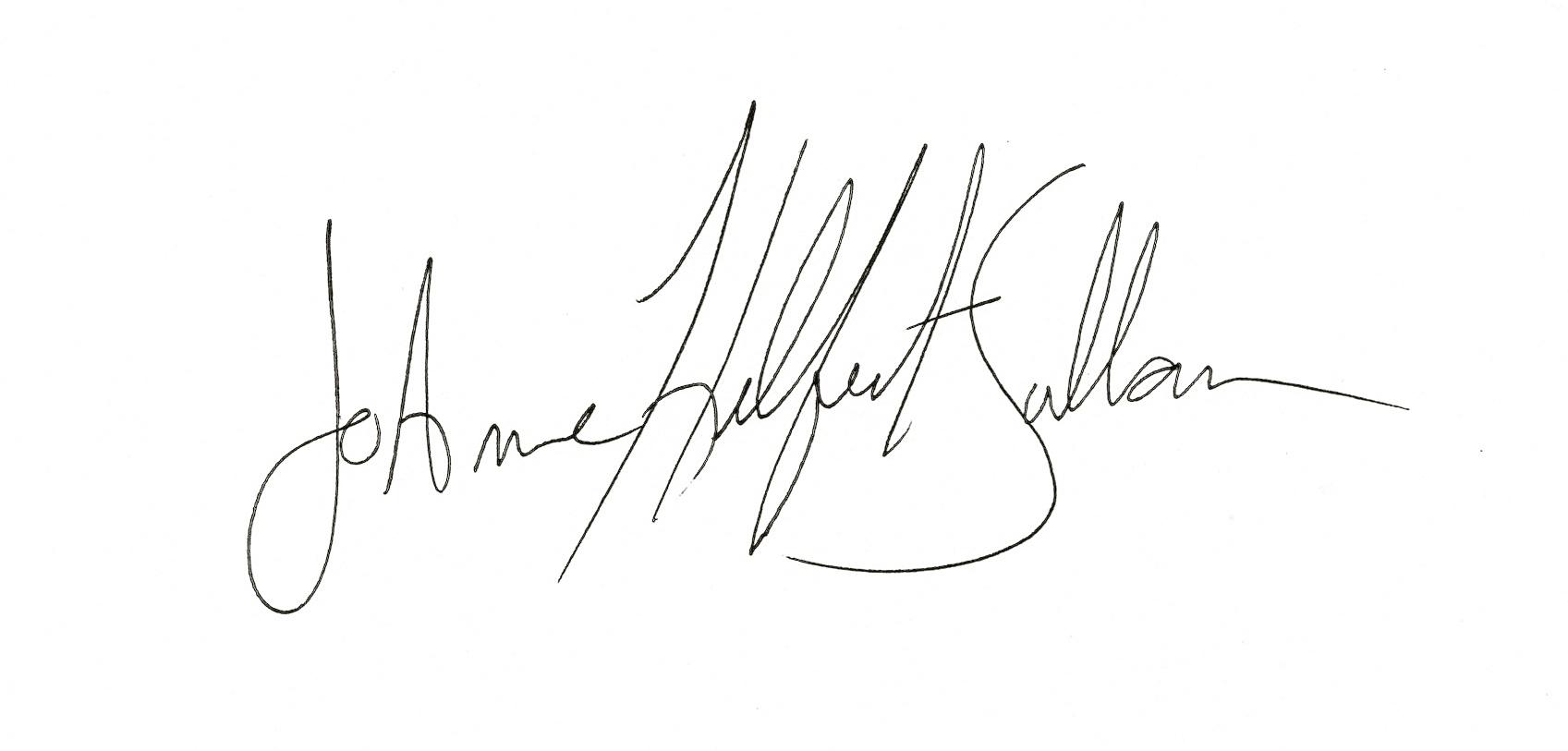 JoAnne Helfert Sullam's Signature