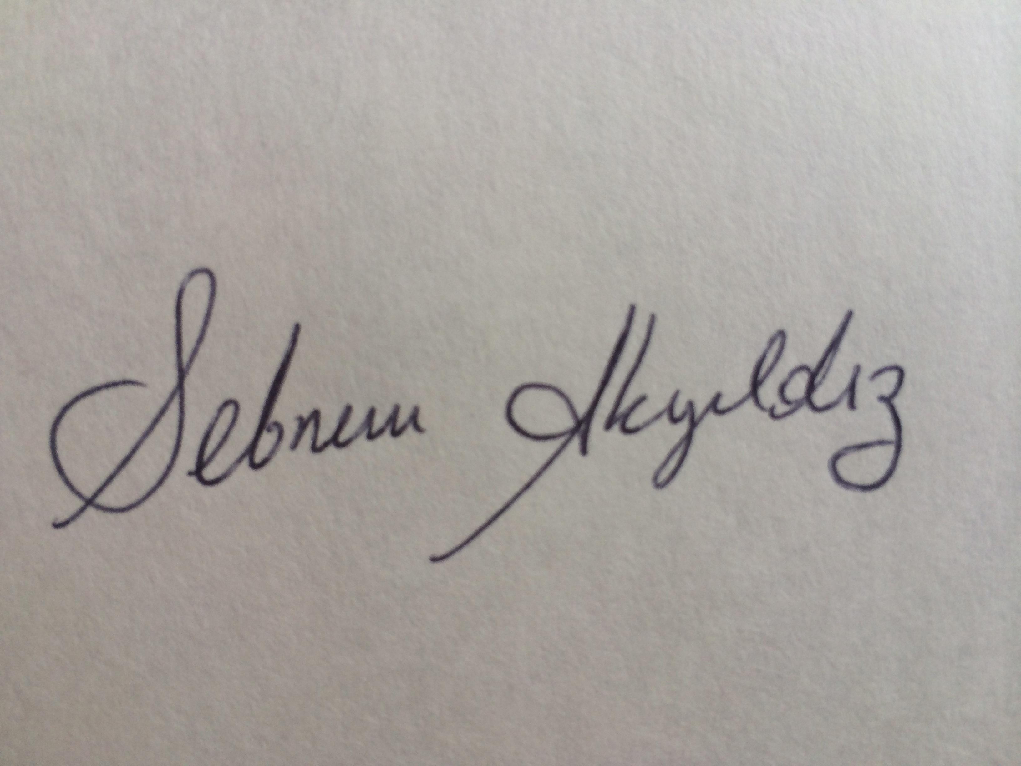 Sebnem AKYILDIZ's Signature
