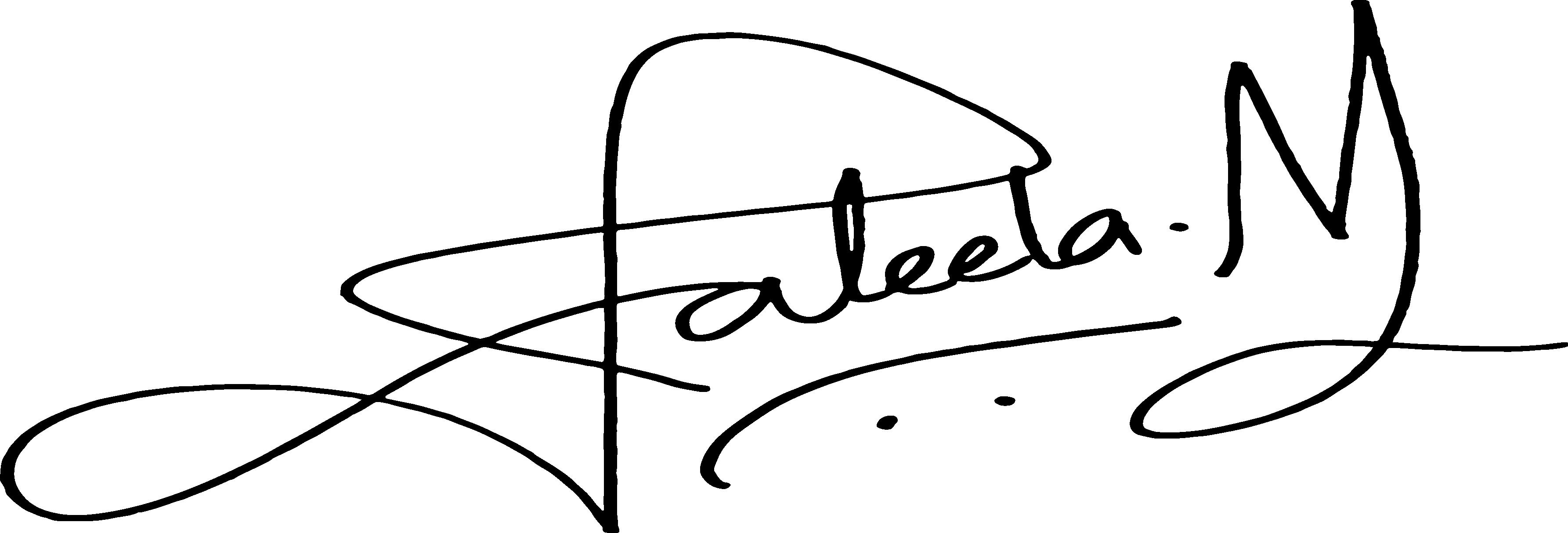 Jaleela Niaz's Signature