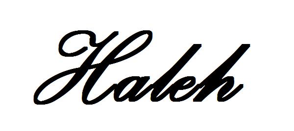 Haleh Walton's Signature