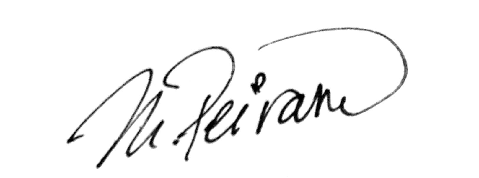 Mariana Peirano's Signature
