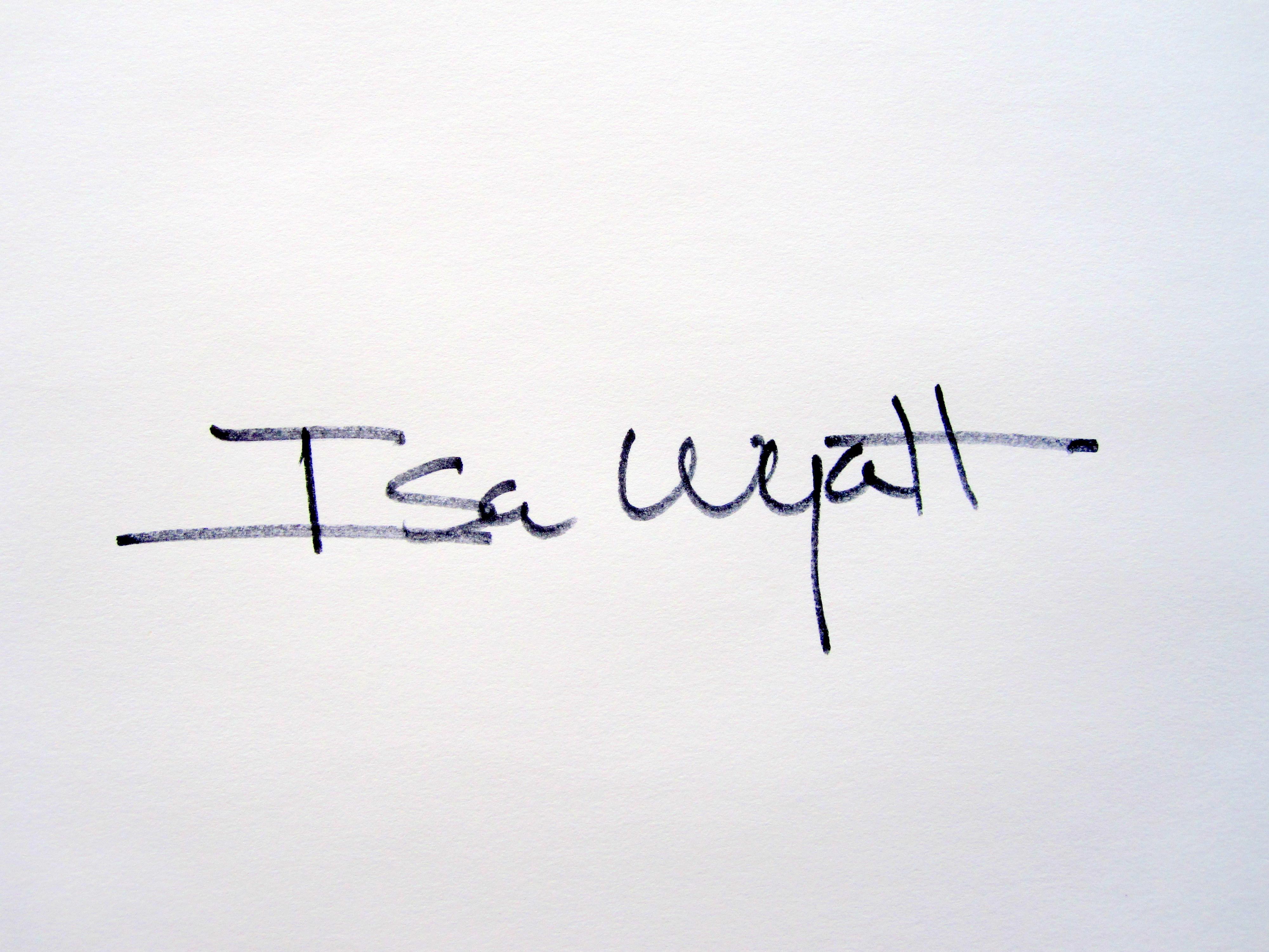 Isa Wyatt's Signature