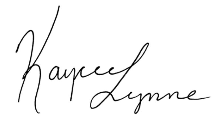 Kaycee Lynne's Signature