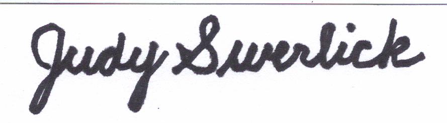 Judy Swerlick's Signature