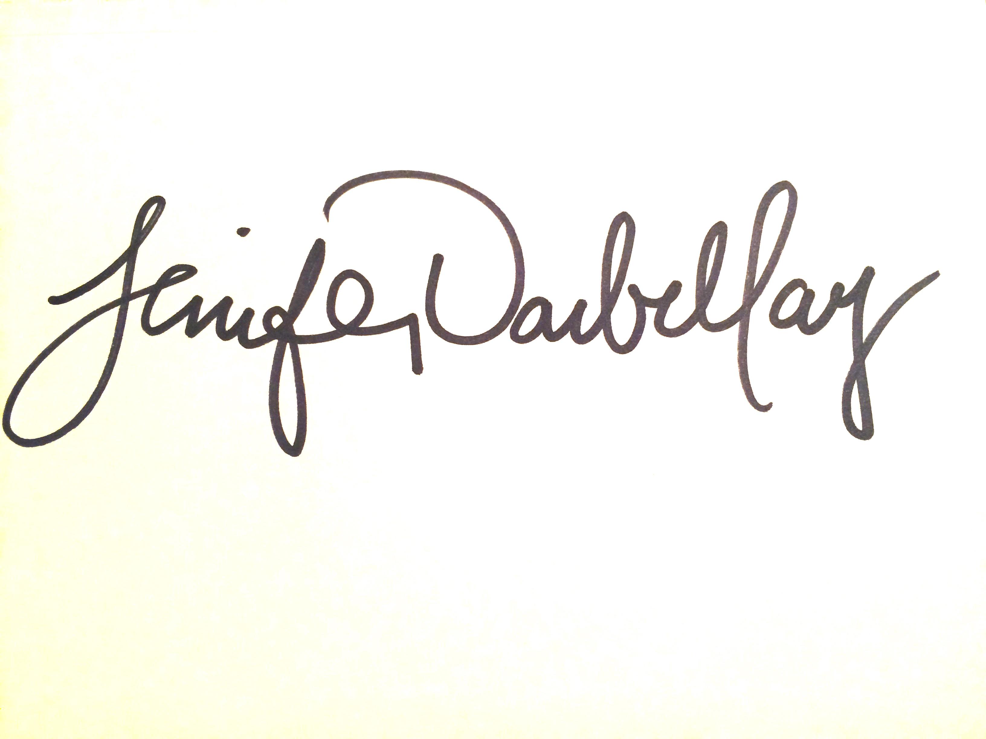 Jenifer Darbellay's Signature