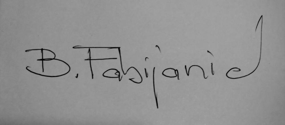 Branislav Fabijanic's Signature
