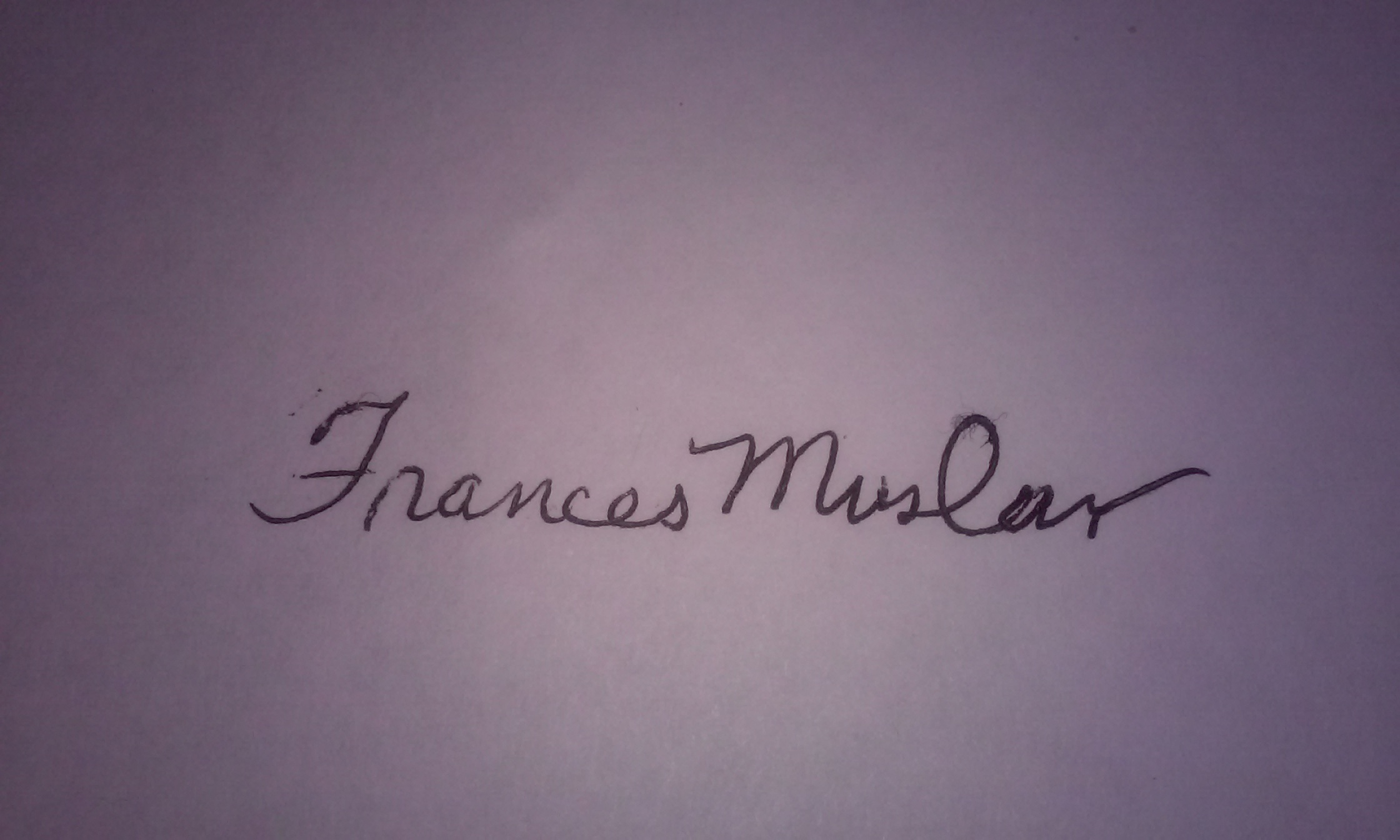 Frances Muslar's Signature