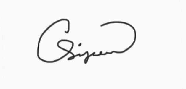 Calvin Simpson's Signature