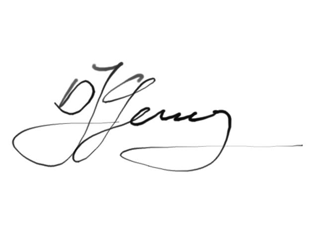 Gerald Schickhuber's Signature