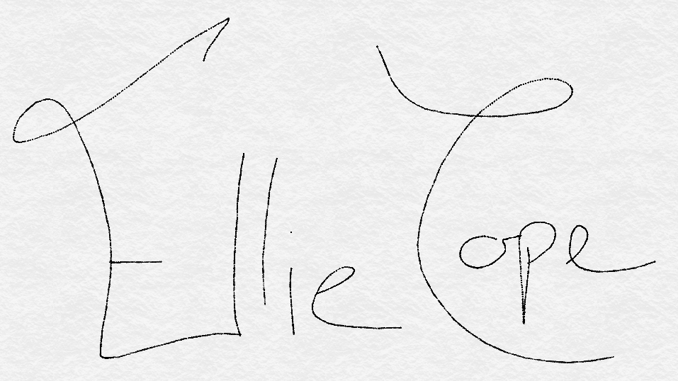Ellie Cope's Signature
