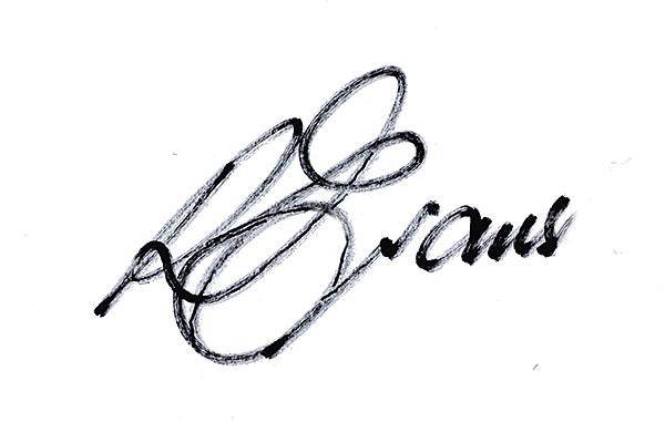 Ron Evans's Signature