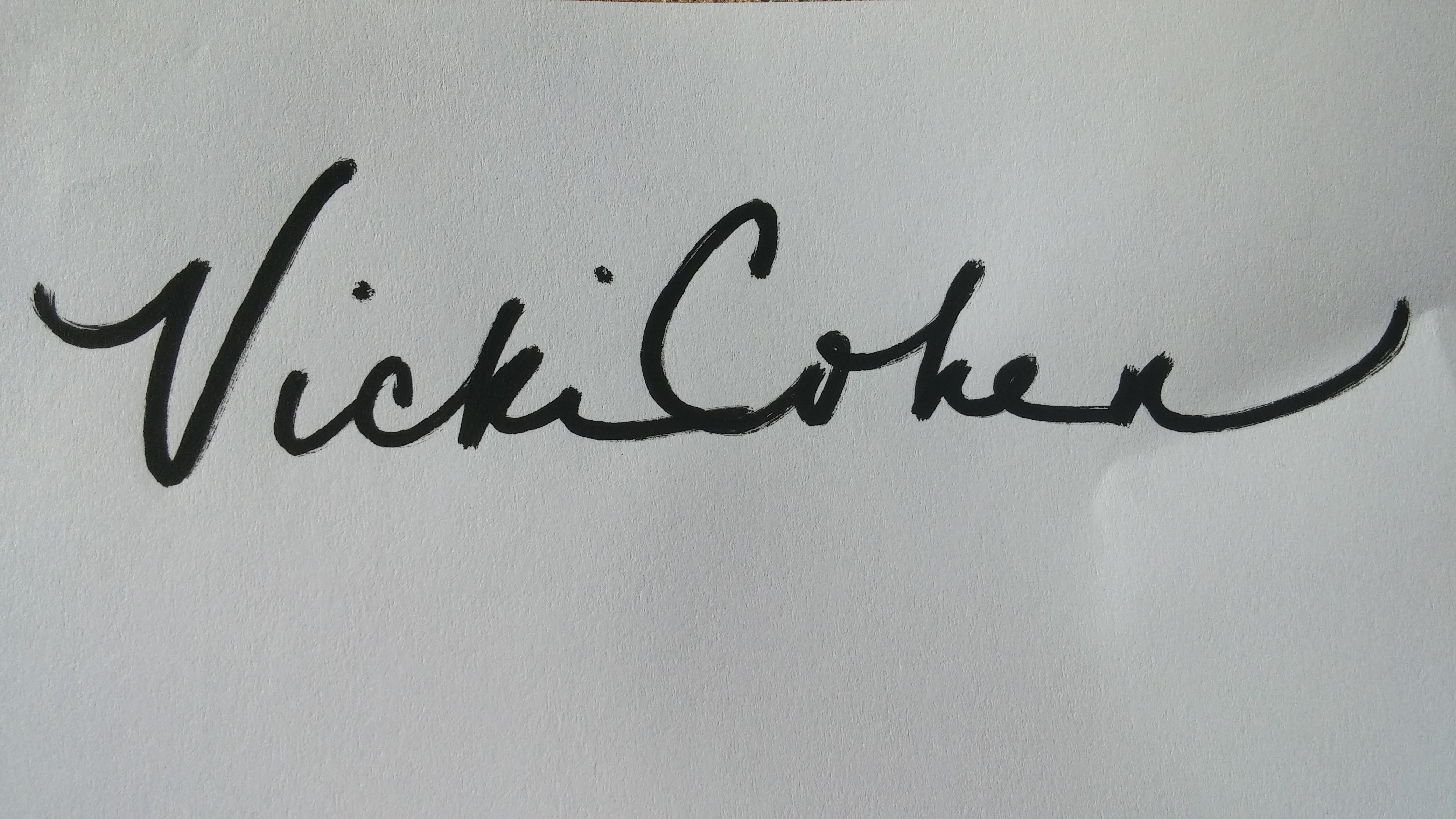 Vicki Cohen's Signature