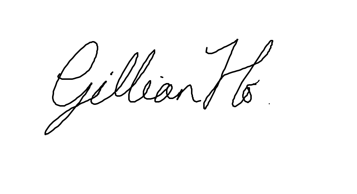 Gillian Ho's Signature