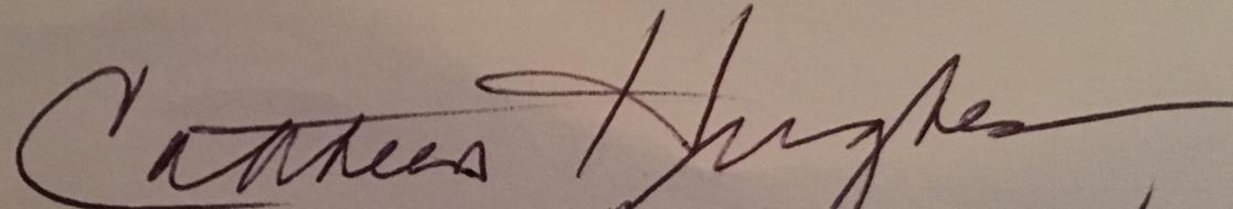 Cathleen Hughes's Signature