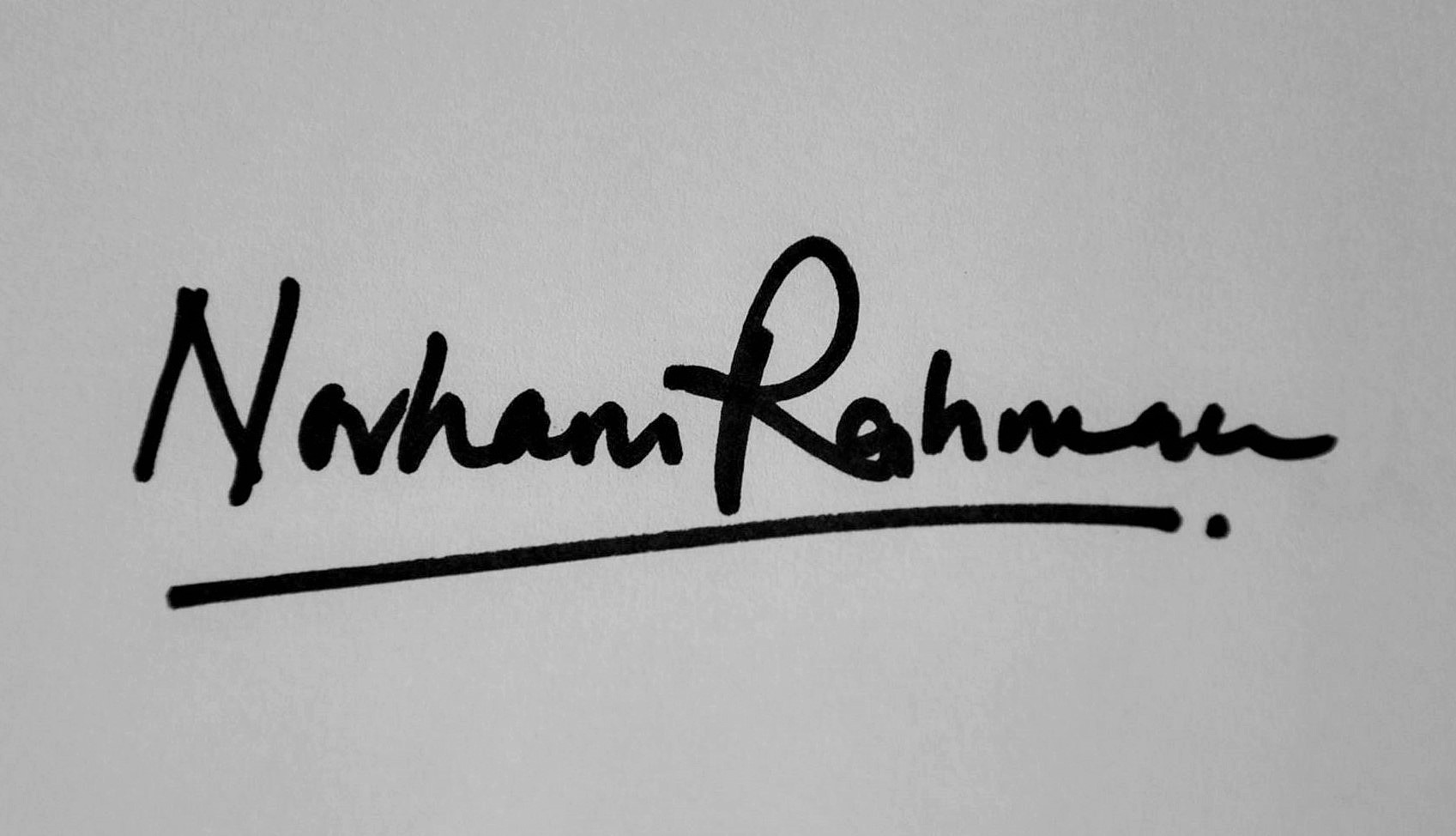 Norhani Abdul Rahman's Signature