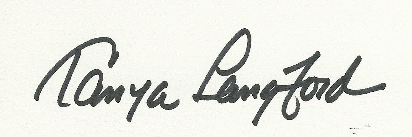 Tanya Langford's Signature