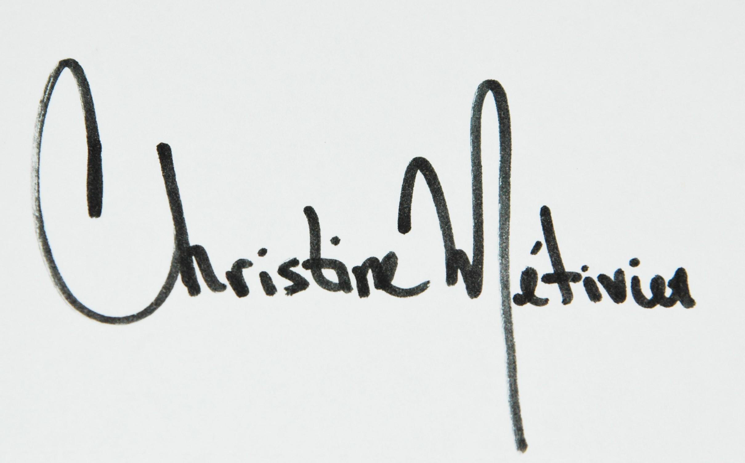 Christine Metivier's Signature