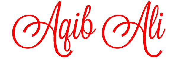 Aqib Ali's Signature