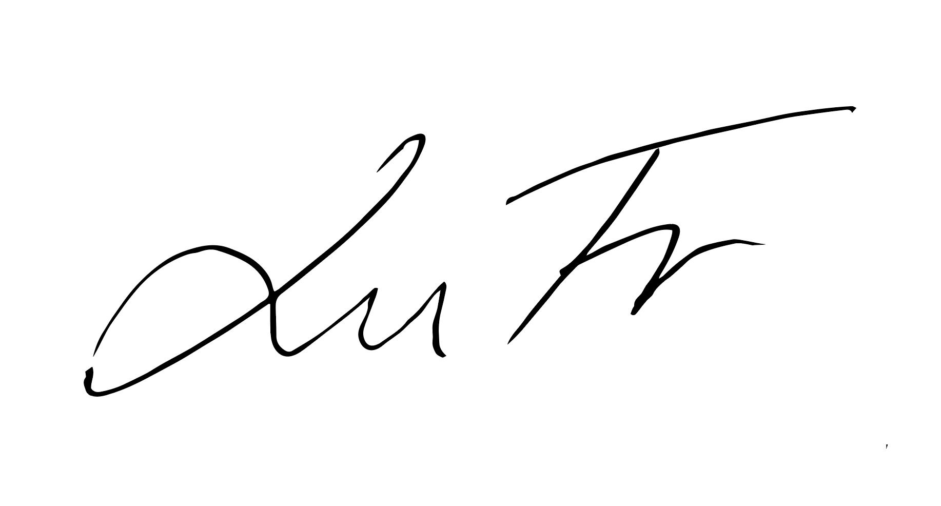 Lucie FrYDLOVA's Signature
