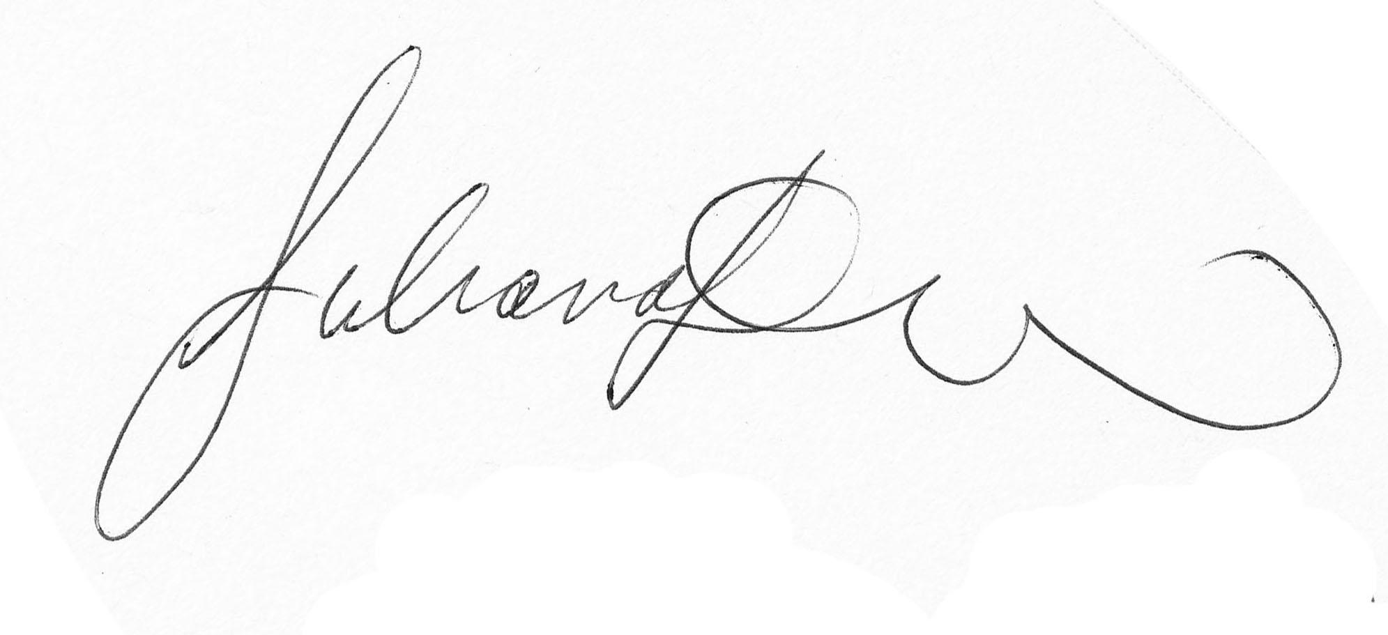 Juliana Disla's Signature