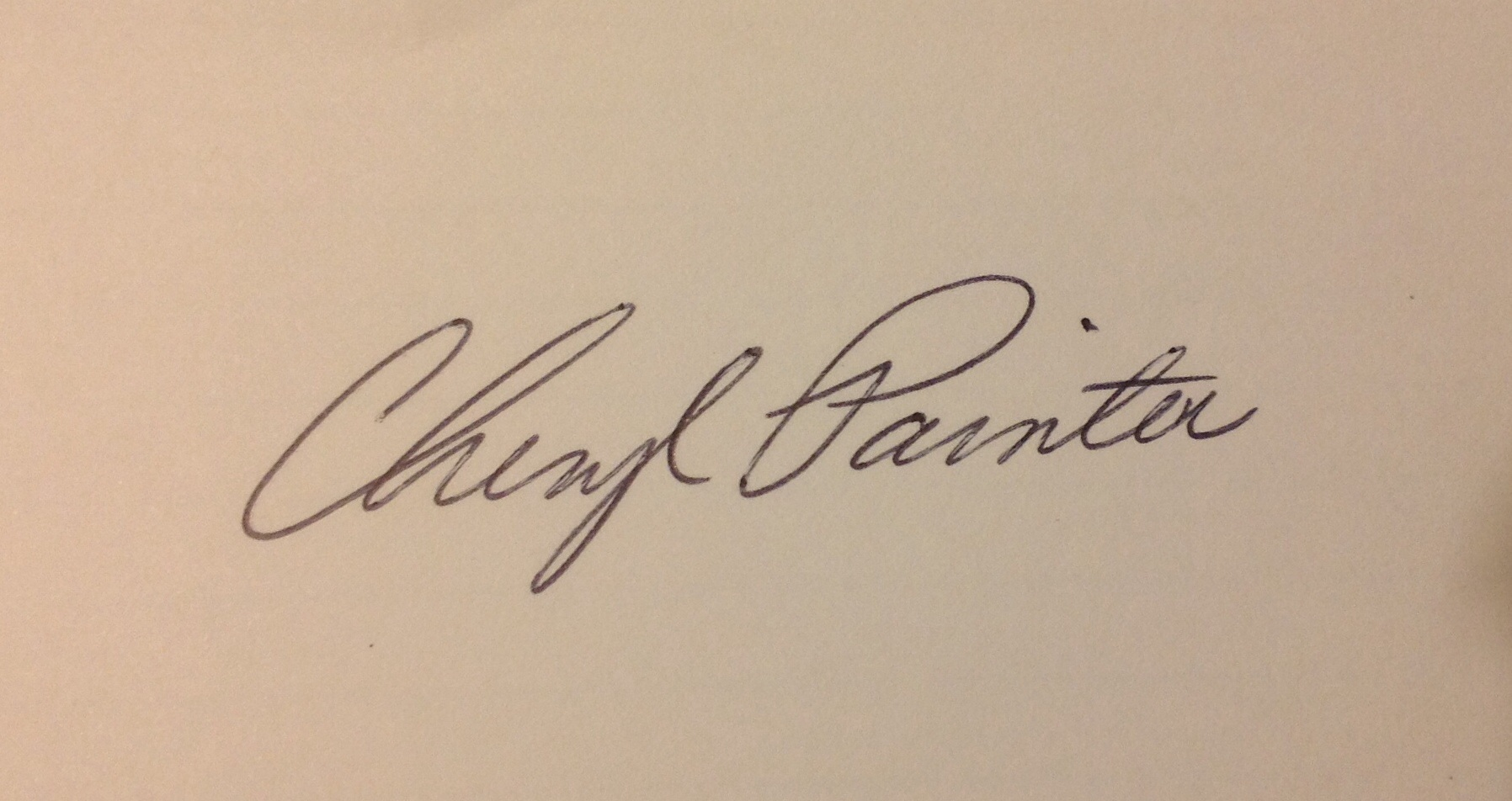 Cheryl Painter's Signature