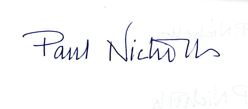 Paul Nicholls's Signature
