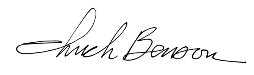 Chuck Benson's Signature