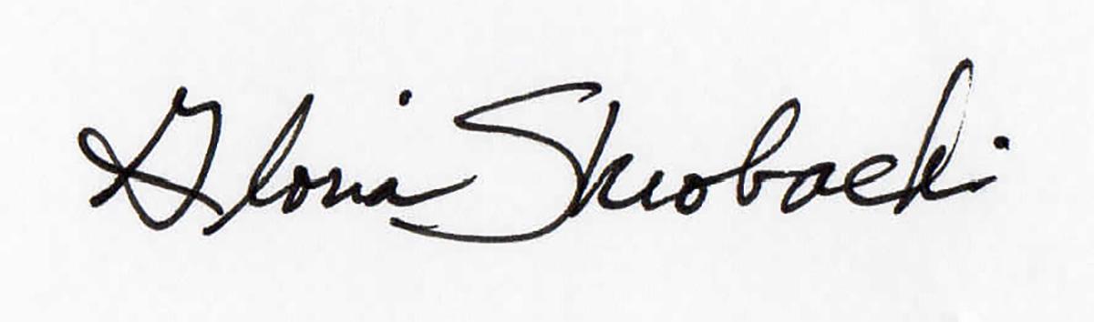 Gloria Skrobacki's Signature