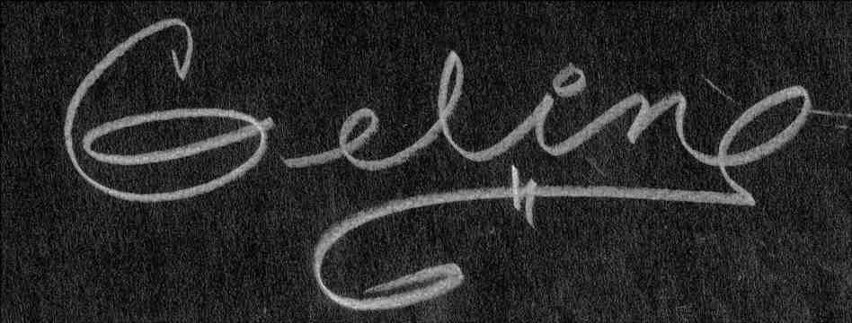 Angeline (Geline) Payne's Signature