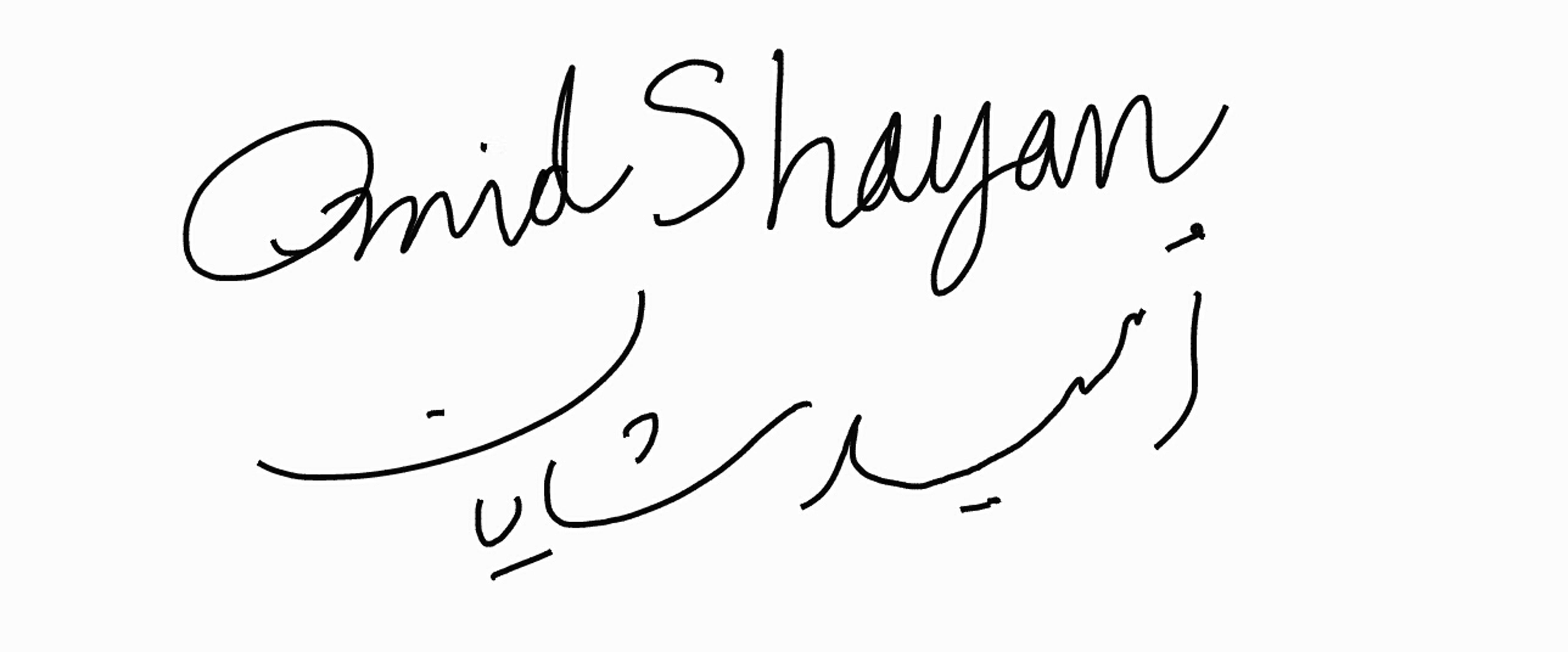 Omid Shayan's Signature