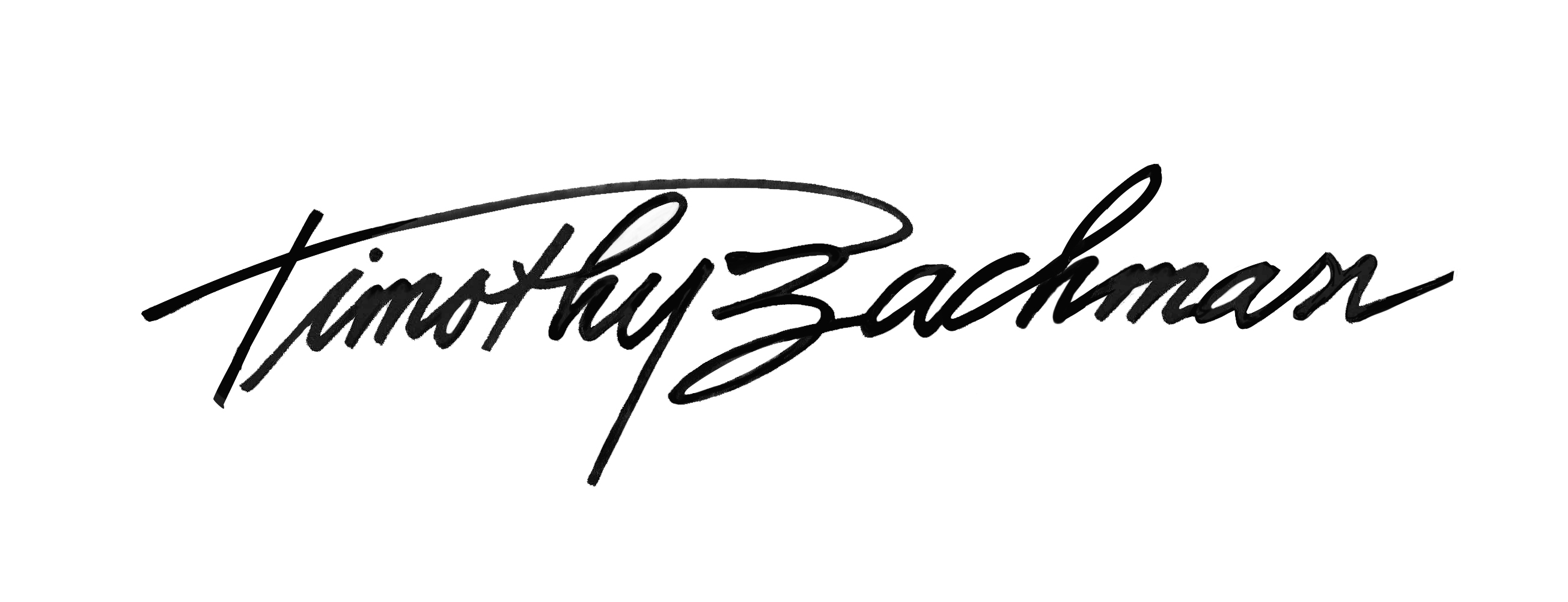 Timothy Bachman's Signature
