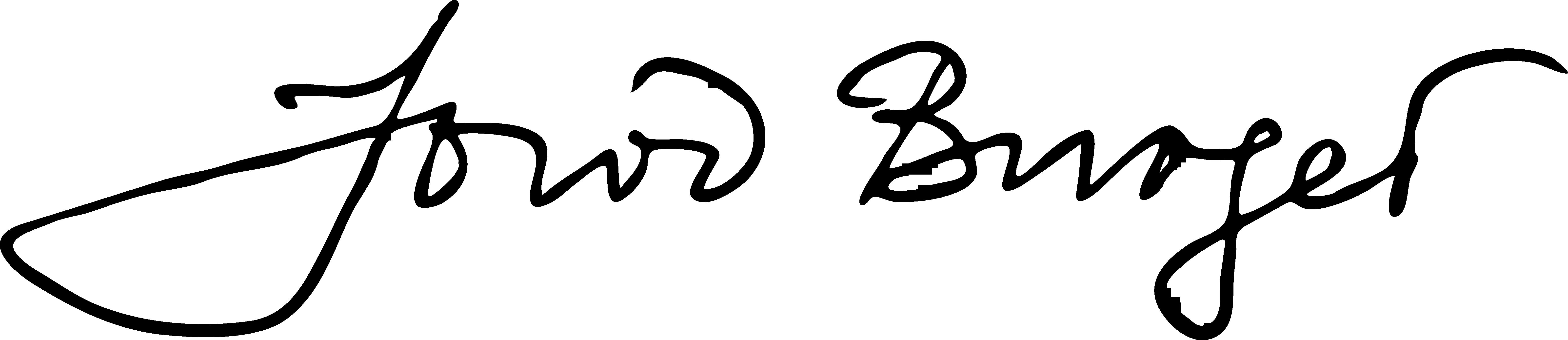 Jowi Burger's Signature