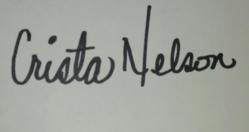 crista Nelson's Signature