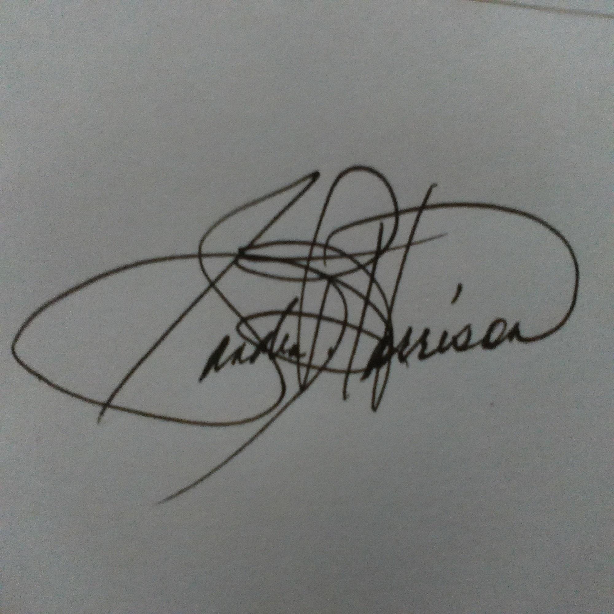 Sandra B. Harrison's Signature