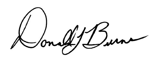 Donald Burns's Signature